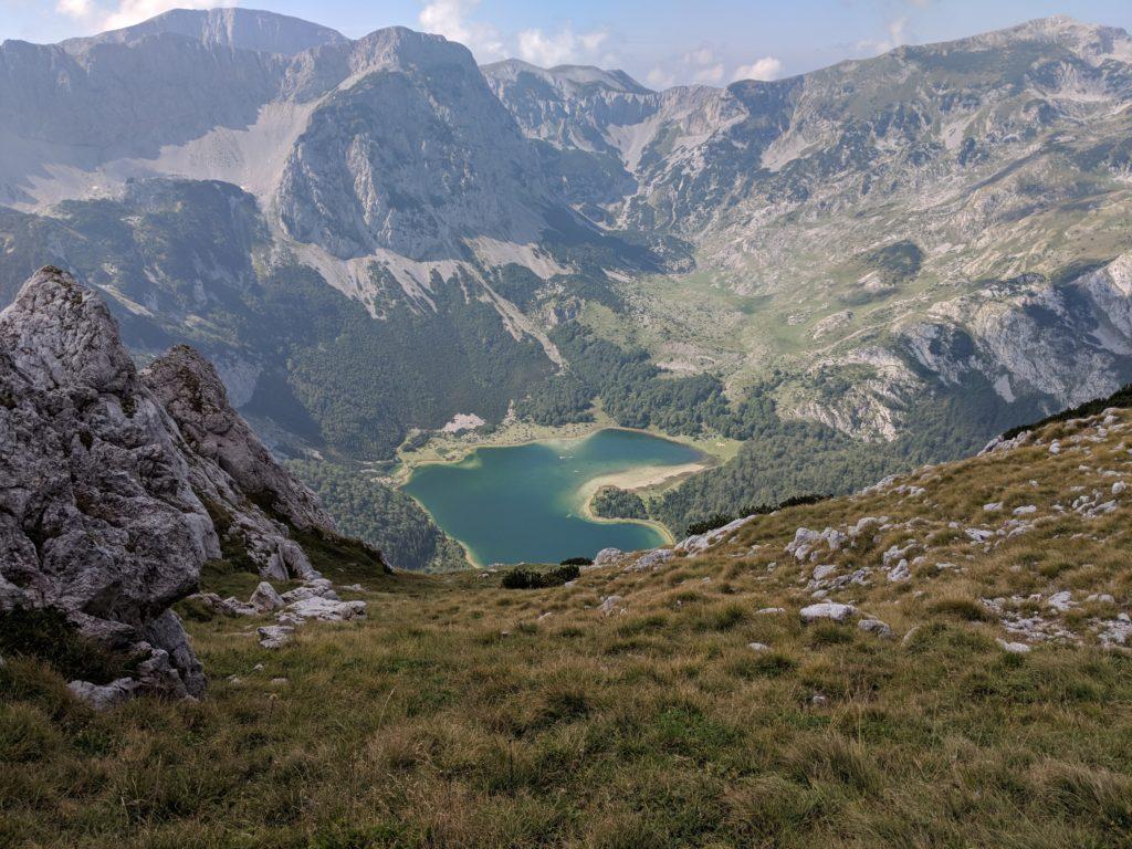 Trnovacko See Zelten auf der Via Dinarica