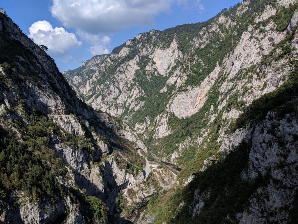 Piva Canyon auf der Via Dinarica